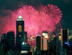 В ночь с 31 декабря на 1 января жители Гонконга встретят Новый год необыкновенным пиротехническим шоу.