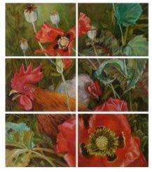 Картина «Жизнь сада. Петух в цветах»