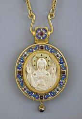 Панагия с иконой «Знамение Божией Матери»
