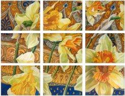 Картина «Сады Востока. Золото на голубом»