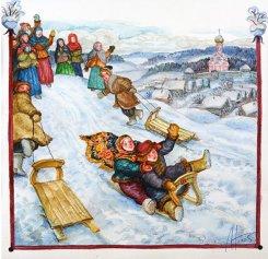 Картина серии Русская песня «Саночки», 2005