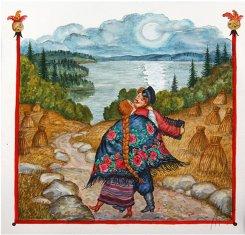 Картина серии Русская песня «Ночная гармонь», 2005