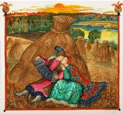 Картина серии Русская песня «В стогах», 2005