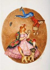 Картина серии Гусарский анекдот «На постое», 2003
