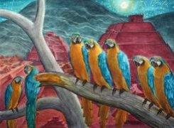 Картина серии Воспоминание о Мексике «Теотиуакан при луне», 2008
