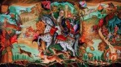Картина «Охота при императрице Елизавете Петровне», 2009
