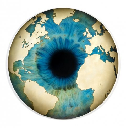 Marc Quinn. The Eye of History (Atlantic Perspective) Raw Earth. 2012. Oil on canvas. Courtesy of the Marc Quinn Studio