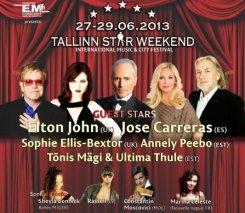 28-29 июня. Хосе Каррерас и Элтон Джон приедут на Tallinn Star Weekend