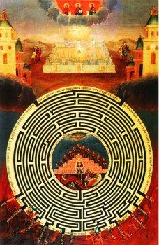 Редкая икона: «Лабиринт Духовный»