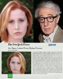 Дочь обвинила Вуди Аллена в сексуальных домогательствах