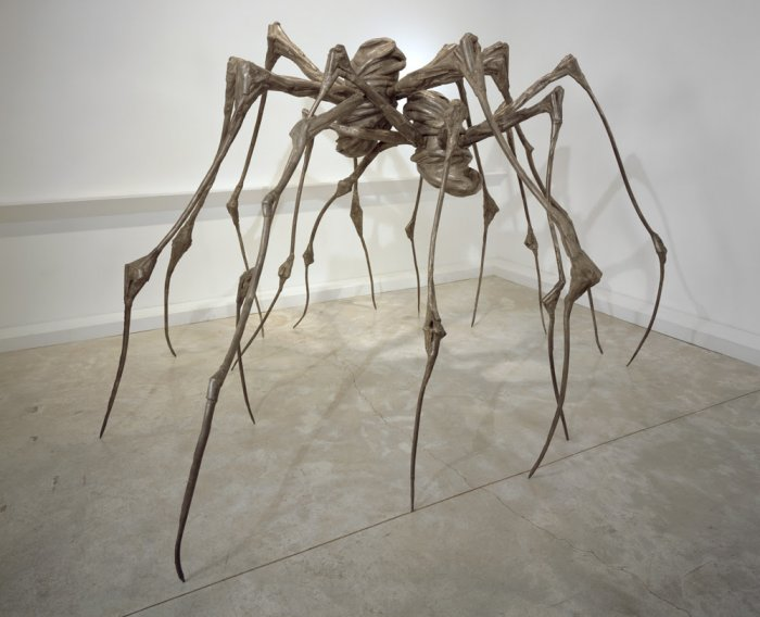 Louise Bourgeois SPIDER COUPLE, 2003 Steel 228.6 x 360.7 x 365.8 cm. Private Collection Photo: Christopher Burke, © The Easton Foundation/Licensed by VAGA, NY